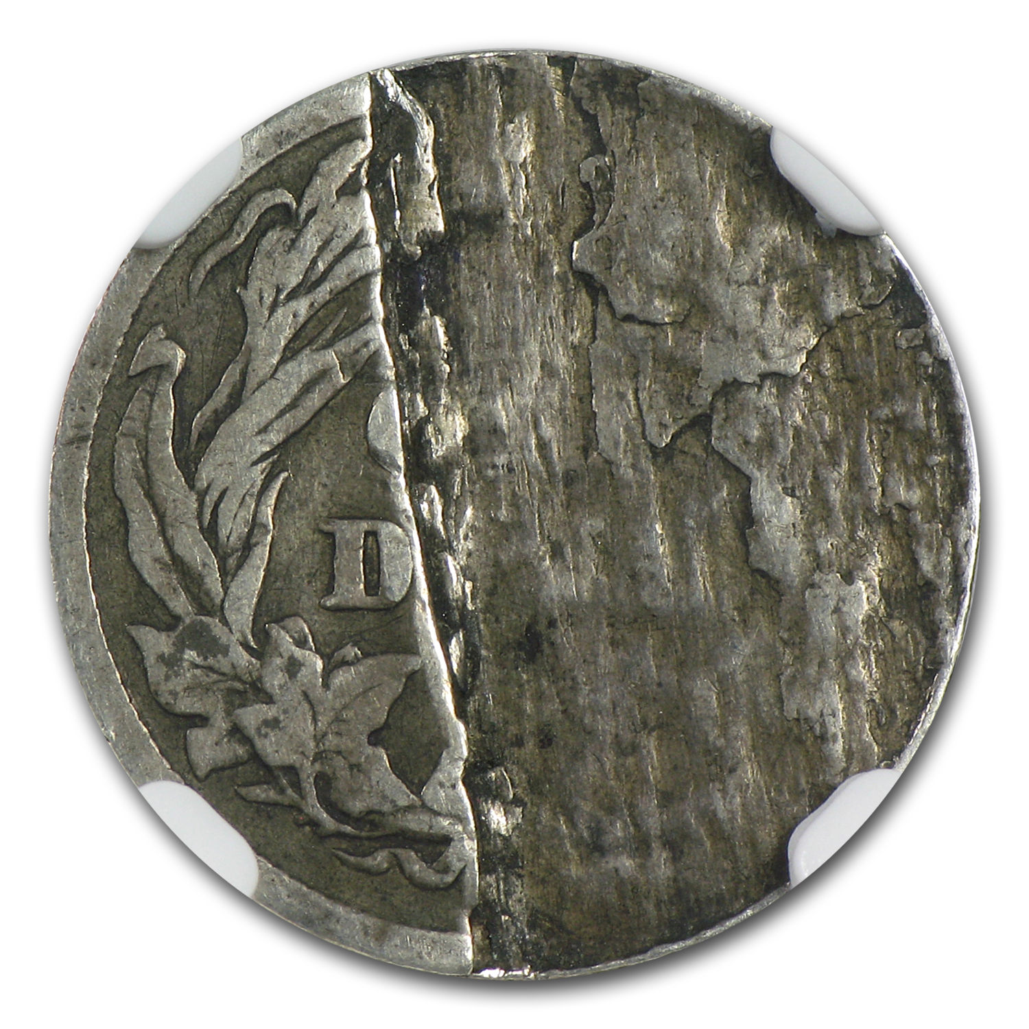 1901 Barber Dime NGC VG-8 Mint Error Reverse Lamination