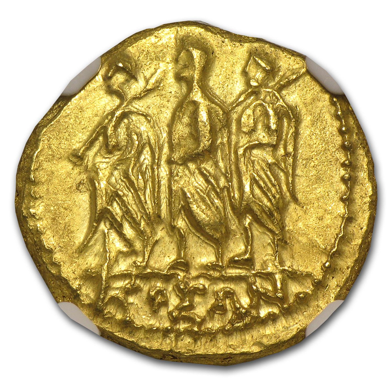 Thracian Scythian Gold Stater Ms Ngc 1st Century Bc