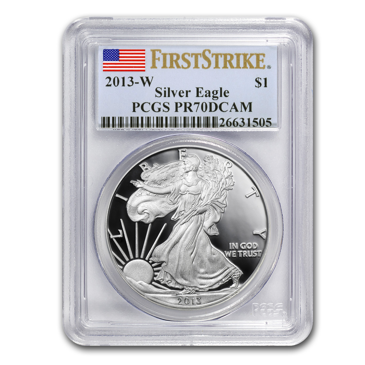 2013-W Proof Silver American Eagle PR-70 PCGS (First Strike)