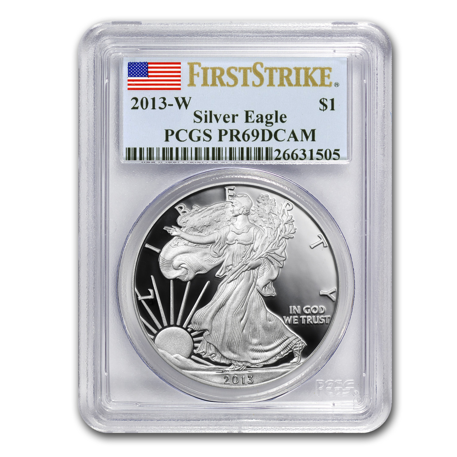 2013-W Proof Silver American Eagle PR-69 PCGS (First Strike)