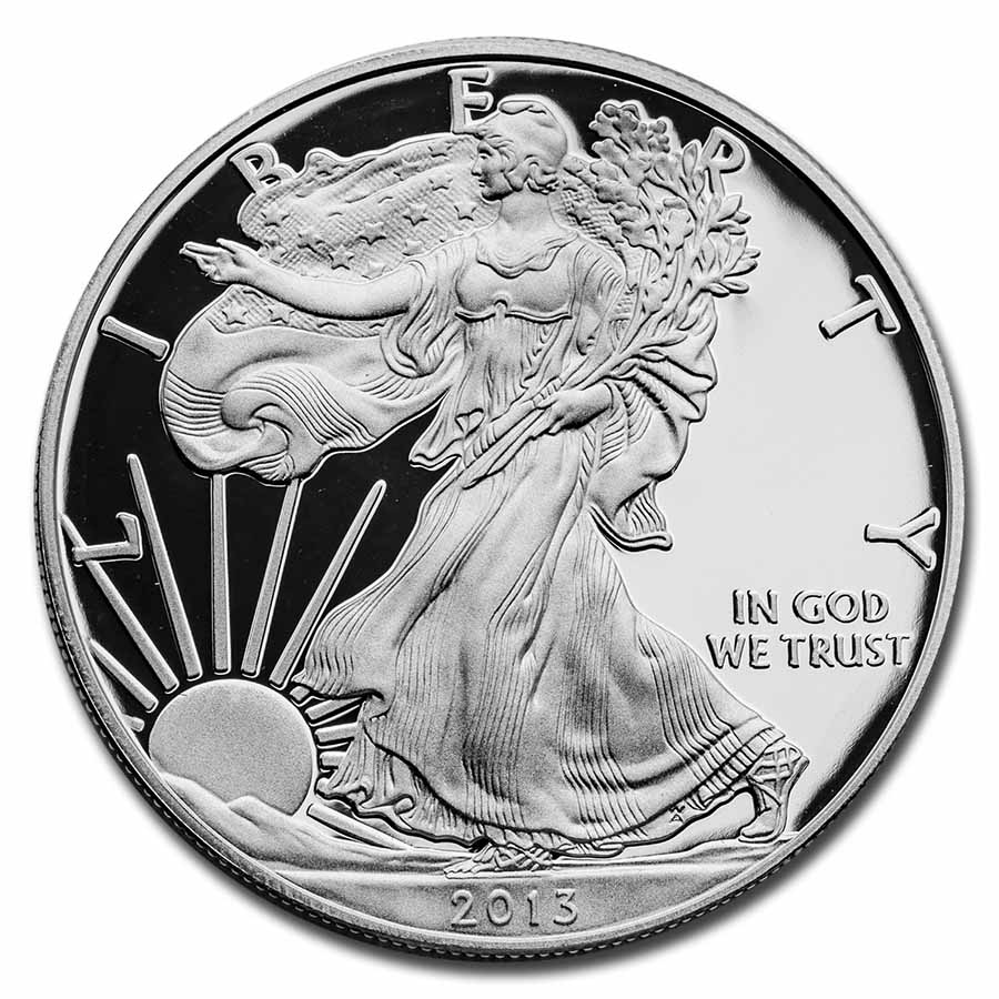 2013-W 1 oz Proof Silver American Eagle (w/Box & COA)