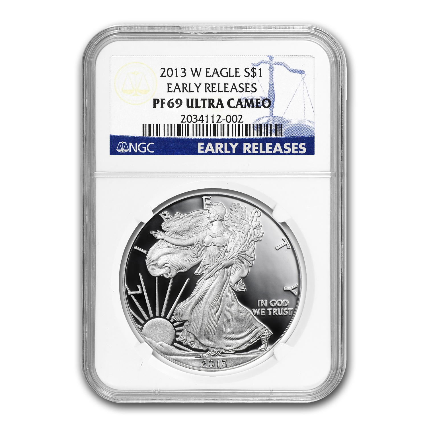 2013-W Proof Silver American Eagle PF-69 NGC (Early Releases)