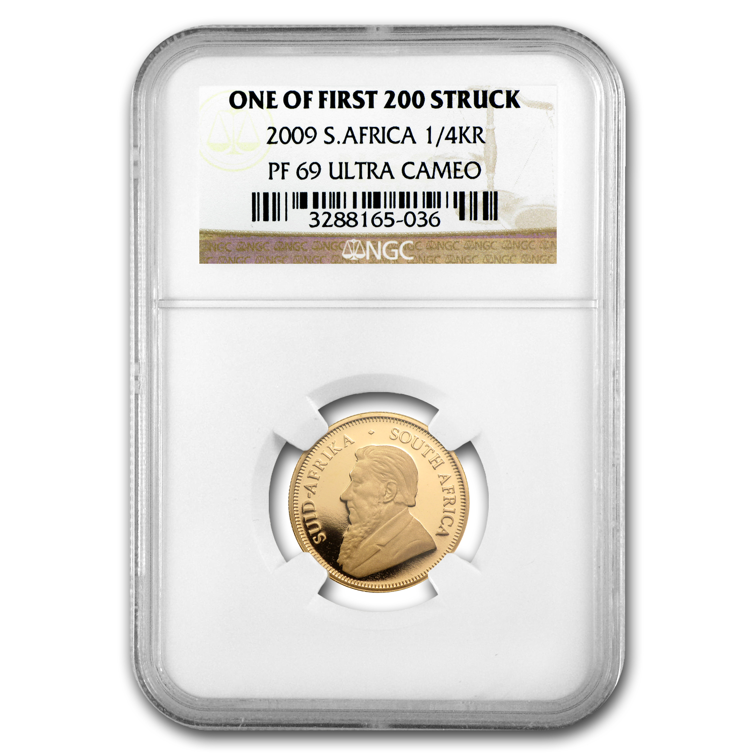 2009 1/4 oz Gold South African Krugerrand PF-69 NGC
