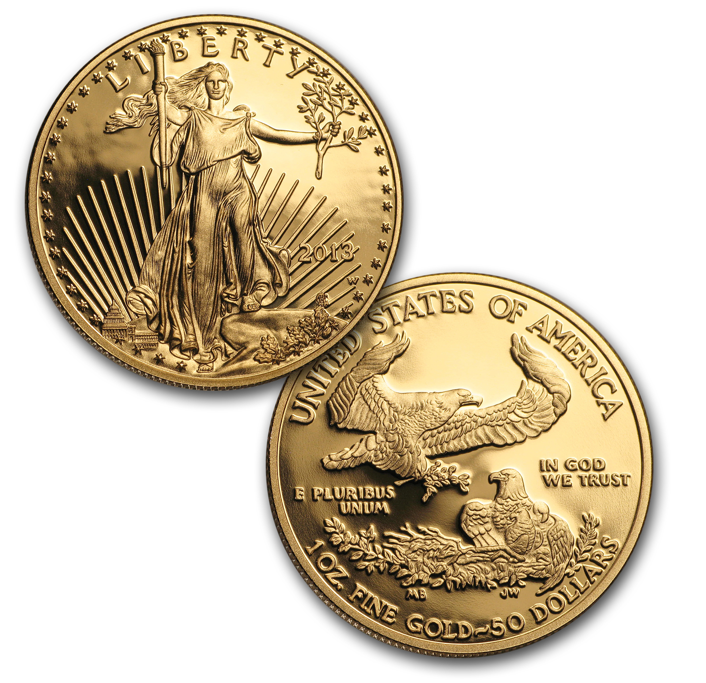 2013-W 4-Coin Proof Gold Eagle Set PR-70 PCGS (FS)