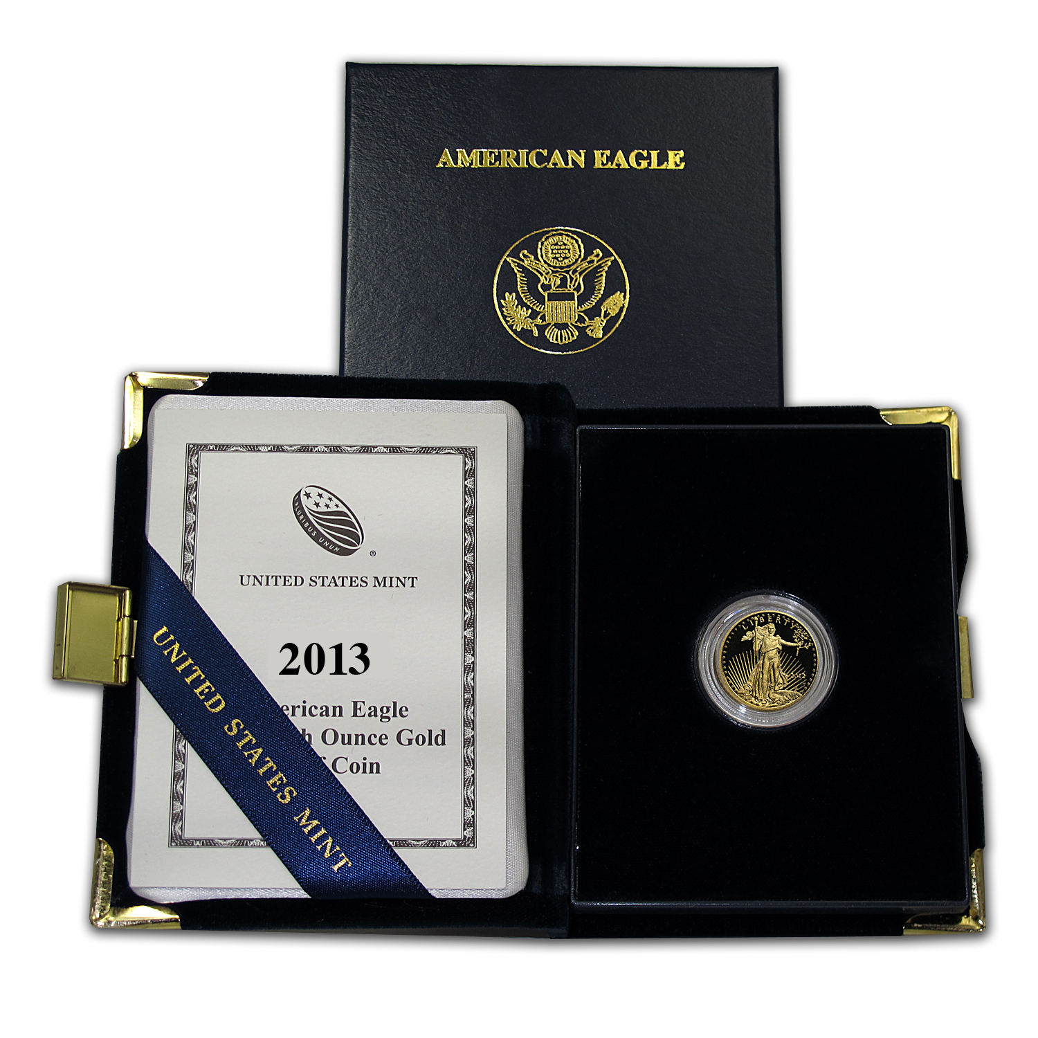 2013-W 1/10 oz Proof Gold American Eagle (w/Box & COA)