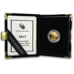 2013-W 1/4 oz Proof Gold American Eagle (w/Box & COA)