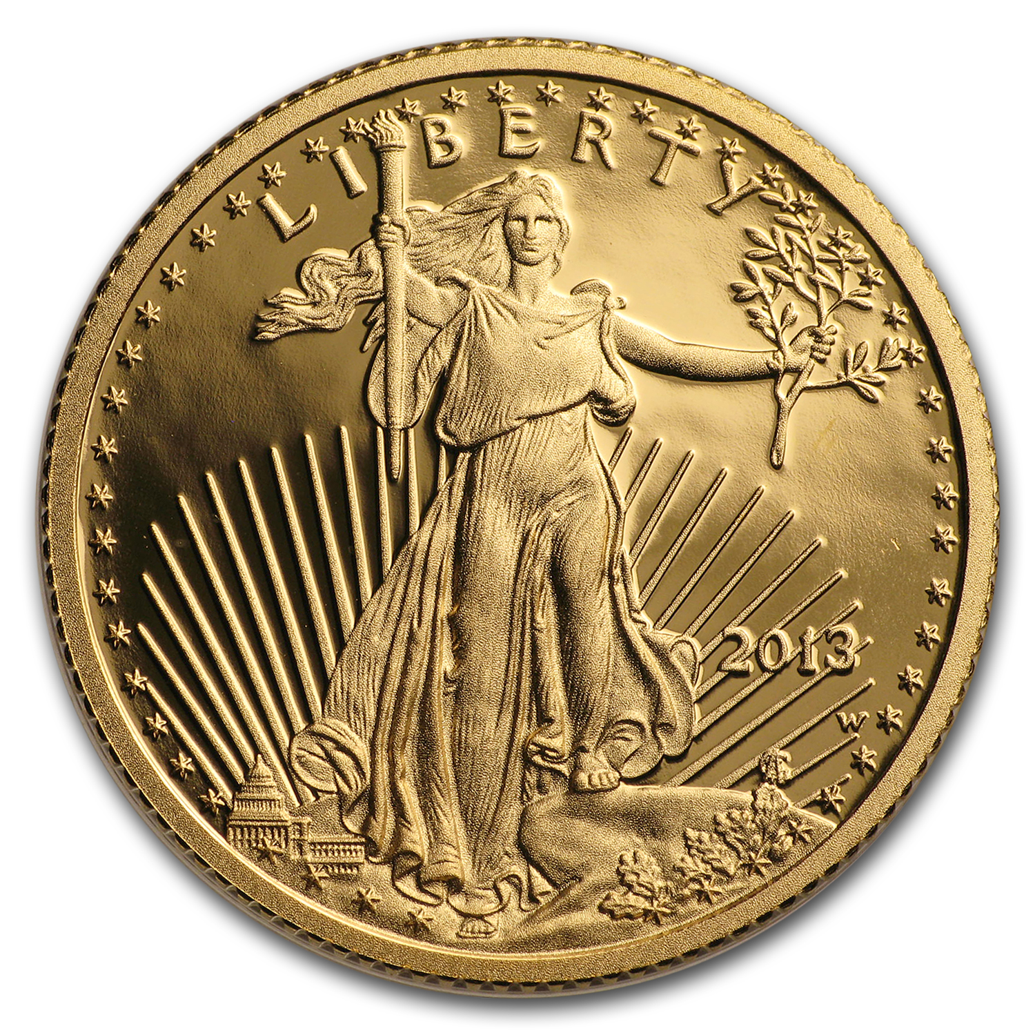 2013-W 1/4 oz Proof Gold American Eagle PF-70 NGC (ER)