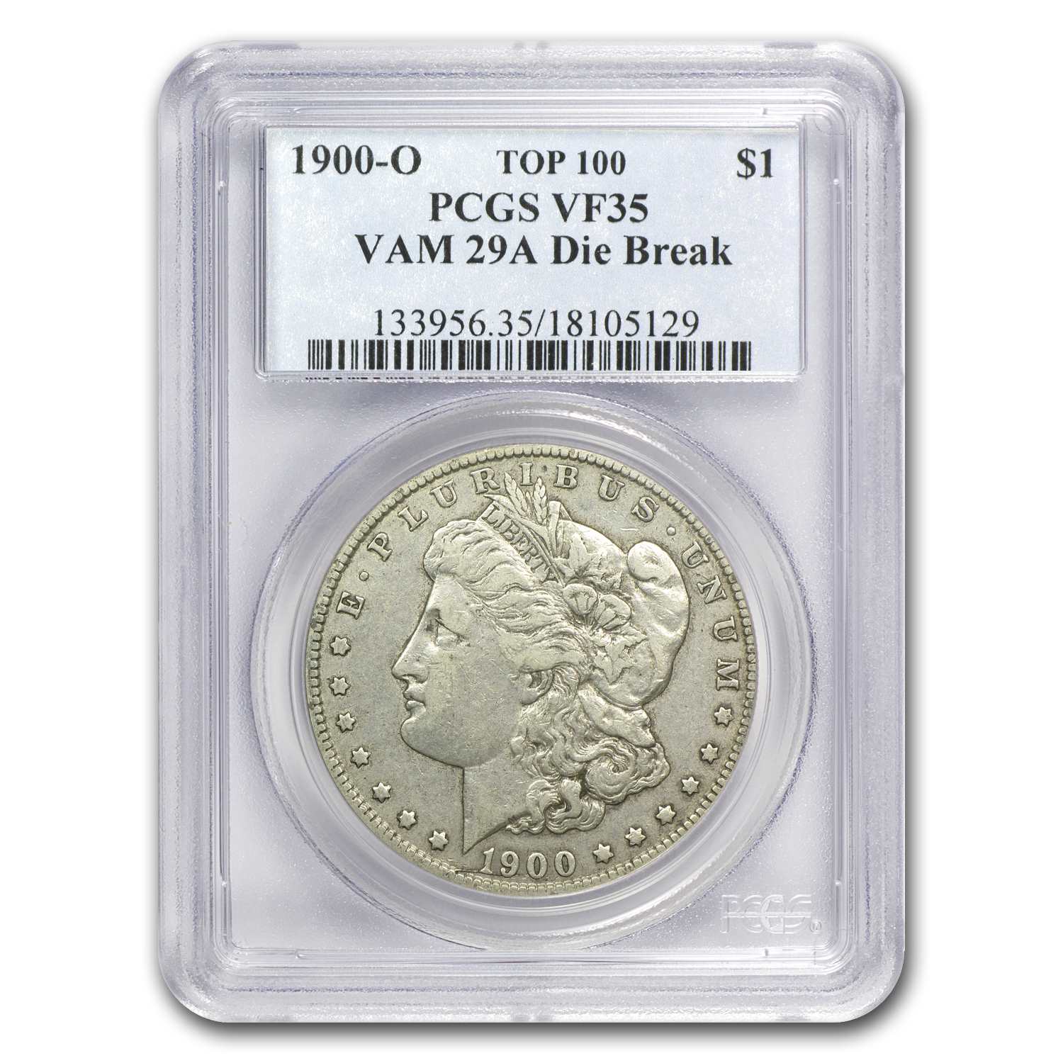 1900 O Vf 35 Pcgs Vam 29a Obverse Die Break Top 100