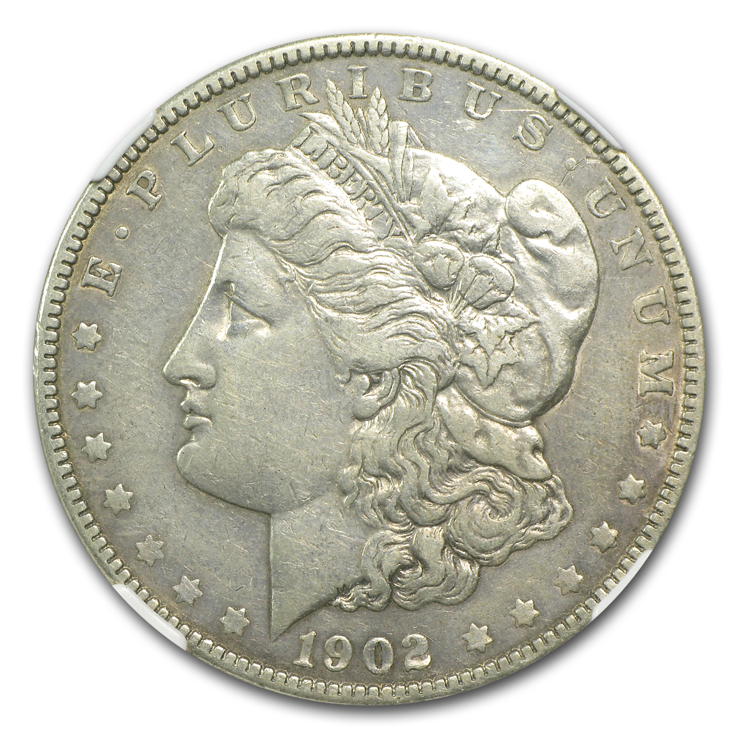 1902 Morgan Dollar XF-40 NGC (VAM-4, Doubled Ear, Top-100)