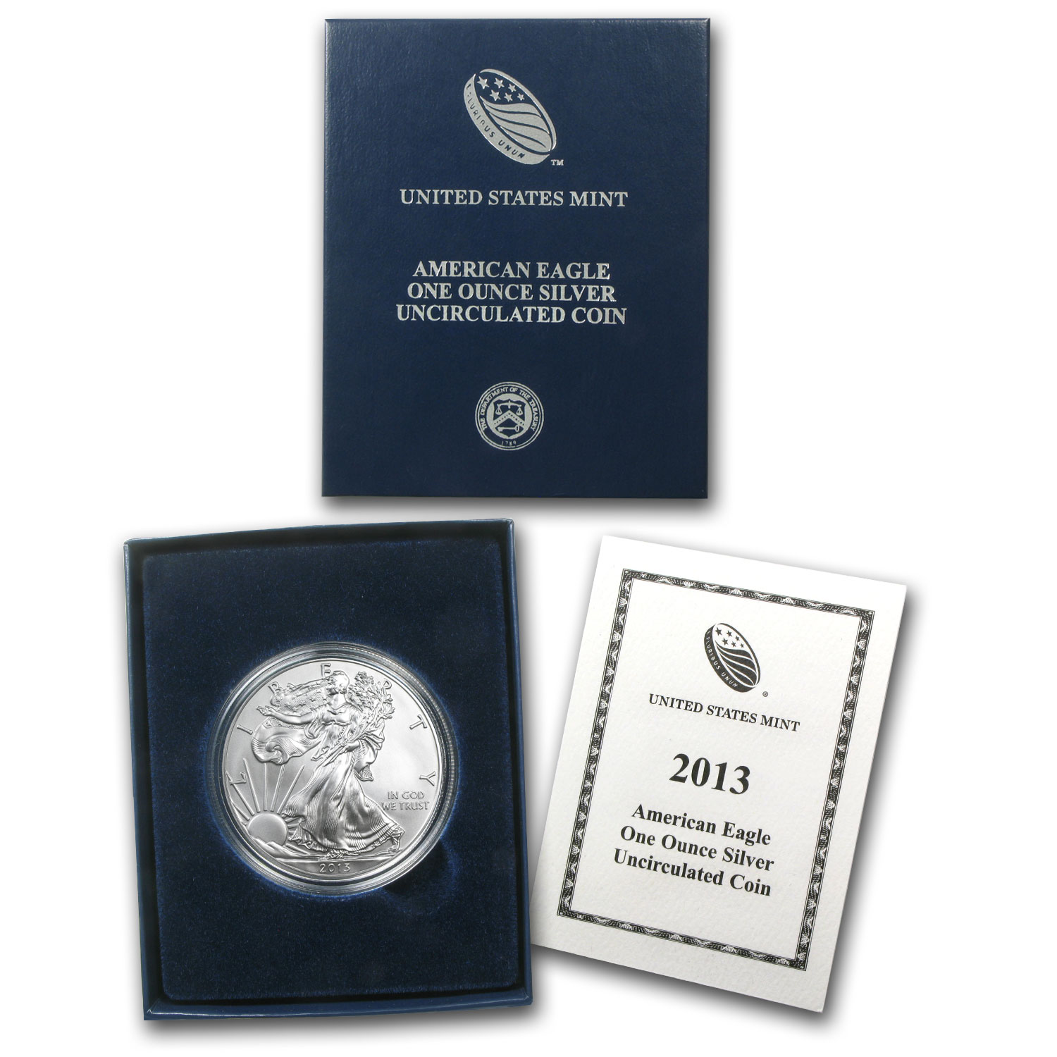 2013-W Burnished Silver American Eagle (w/Box & COA)