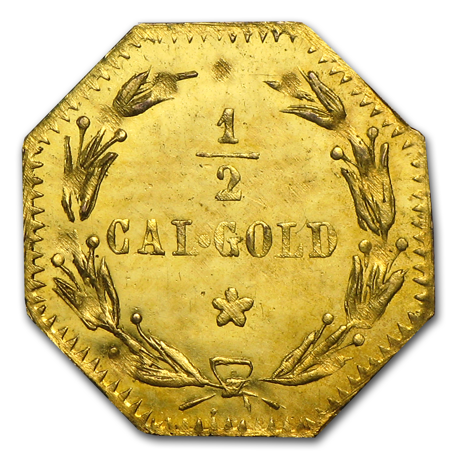 1875 Indian Octagonal Gold Token MS-63 (Proof-Like)