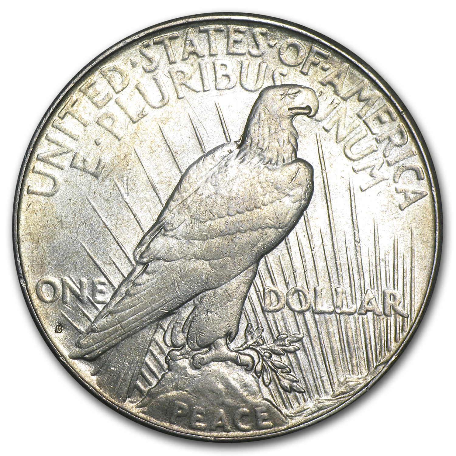 1934-S Peace Dollar - Almost Uncirculated-55