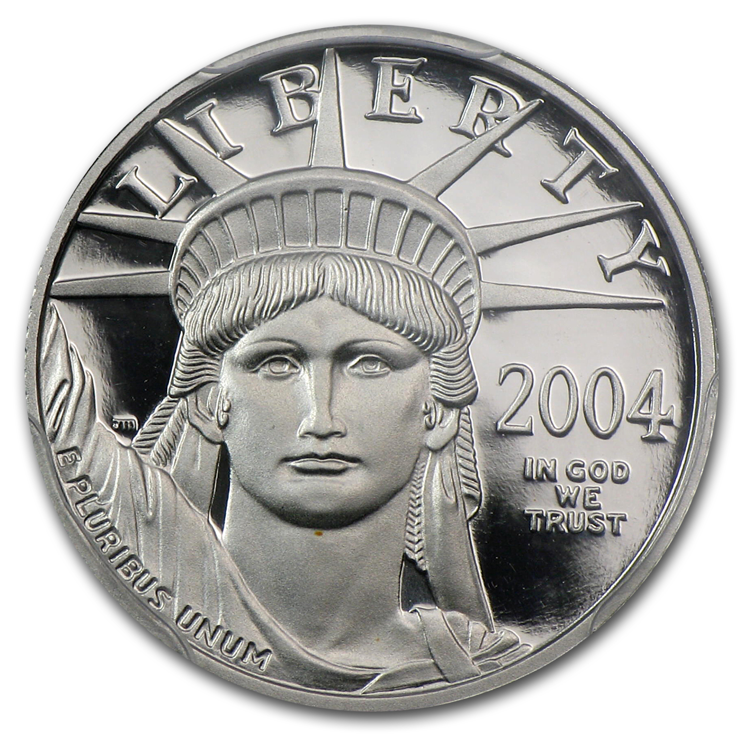 2004-W 1/10 oz Proof Platinum American Eagle PR-70 Registry Set