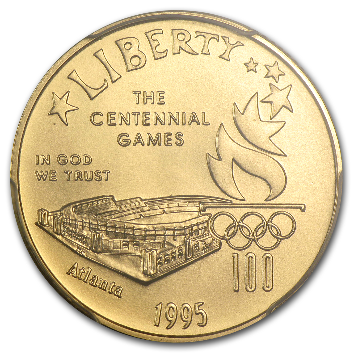 1995-W Gold $5 Commem Olympic Stadium MS-70 PCGS
