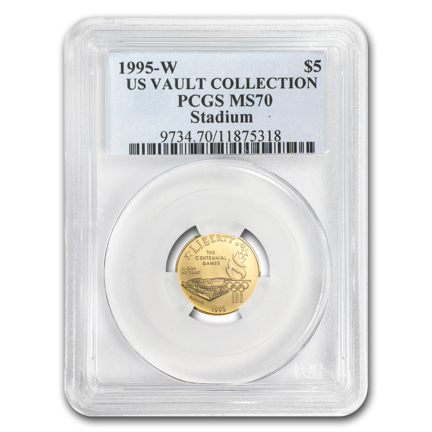 1995-W $5 Gold Commemorative Olympic Stadium MS-70 PCGS
