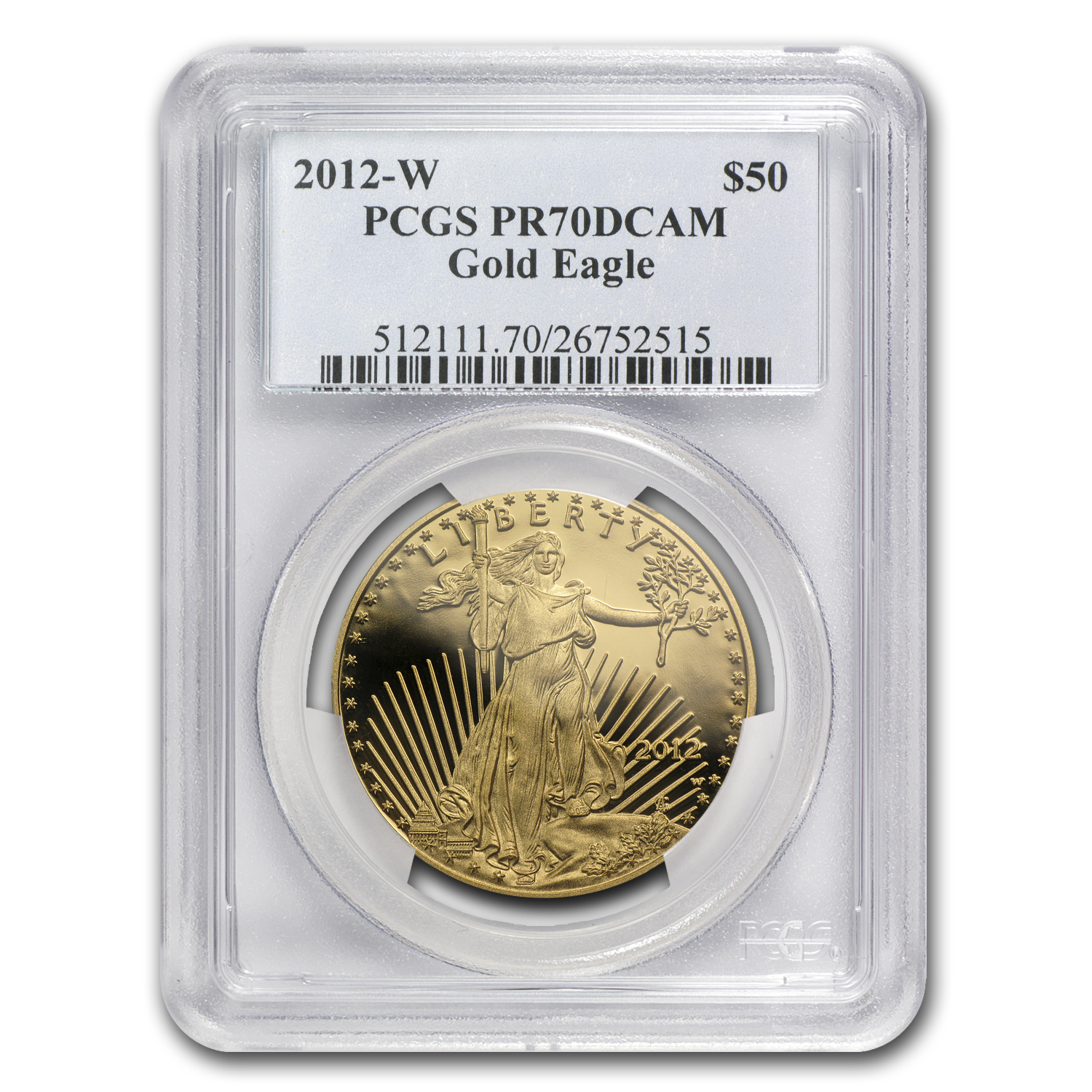 2012-W 1 oz Proof Gold American Eagle PR-70 PCGS