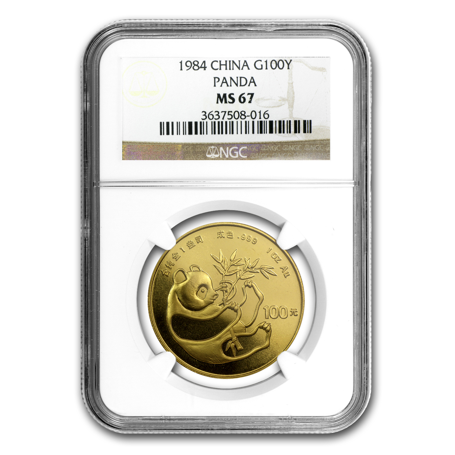 1984 1 oz Gold Chinese Panda MS-67 NGC