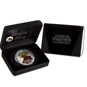 2012 Niue 1 oz Silver $2 Star Wars Yoda Proof (w/Box & COA)