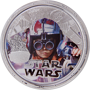 2012 Star Wars 1oz Silver $2 Niue- Anakin Skywalker (W/Box & COA)