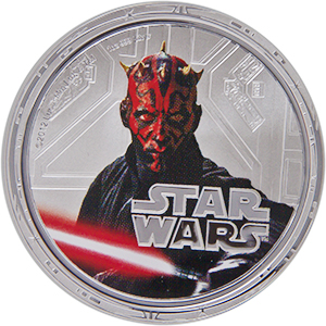 2012 Niue 1 oz Silver $2 Star Wars Darth Maul Proof (w/Box & COA)