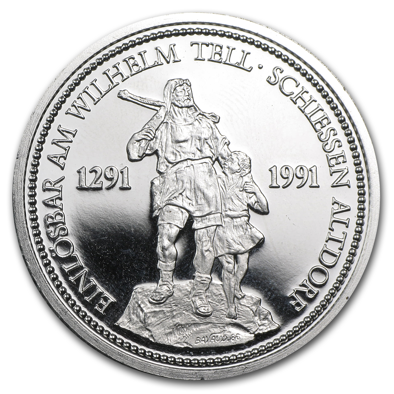 1986 Switzerland 1 oz Platinum Shooting Thaler Proof