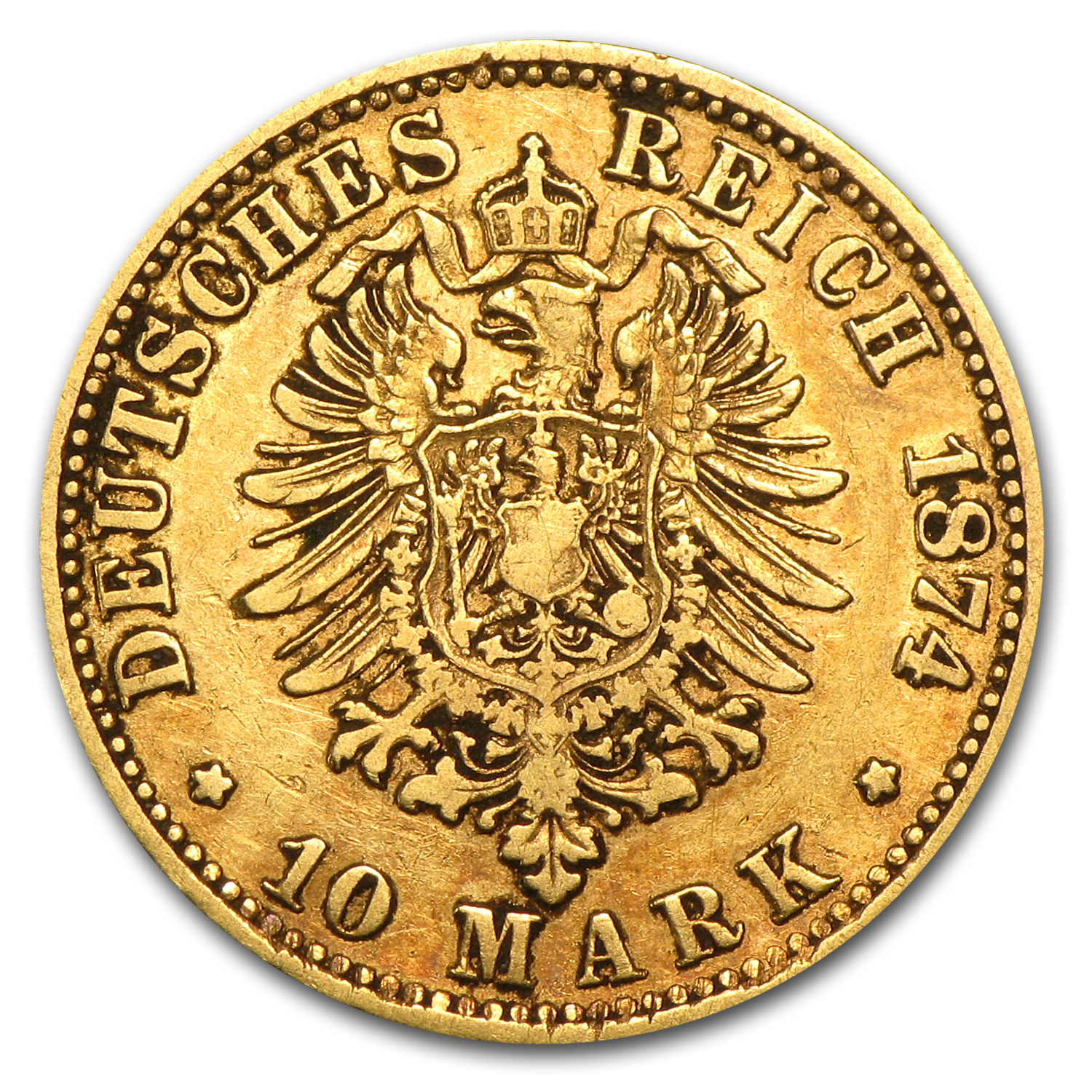 Germany Prussia 10 Mark Gold AGW .1152 (Avg Circ)