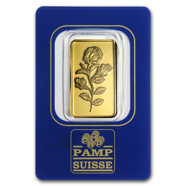 10 Gram Gold Bar Pamp Suisse Rosa Spot Gold
