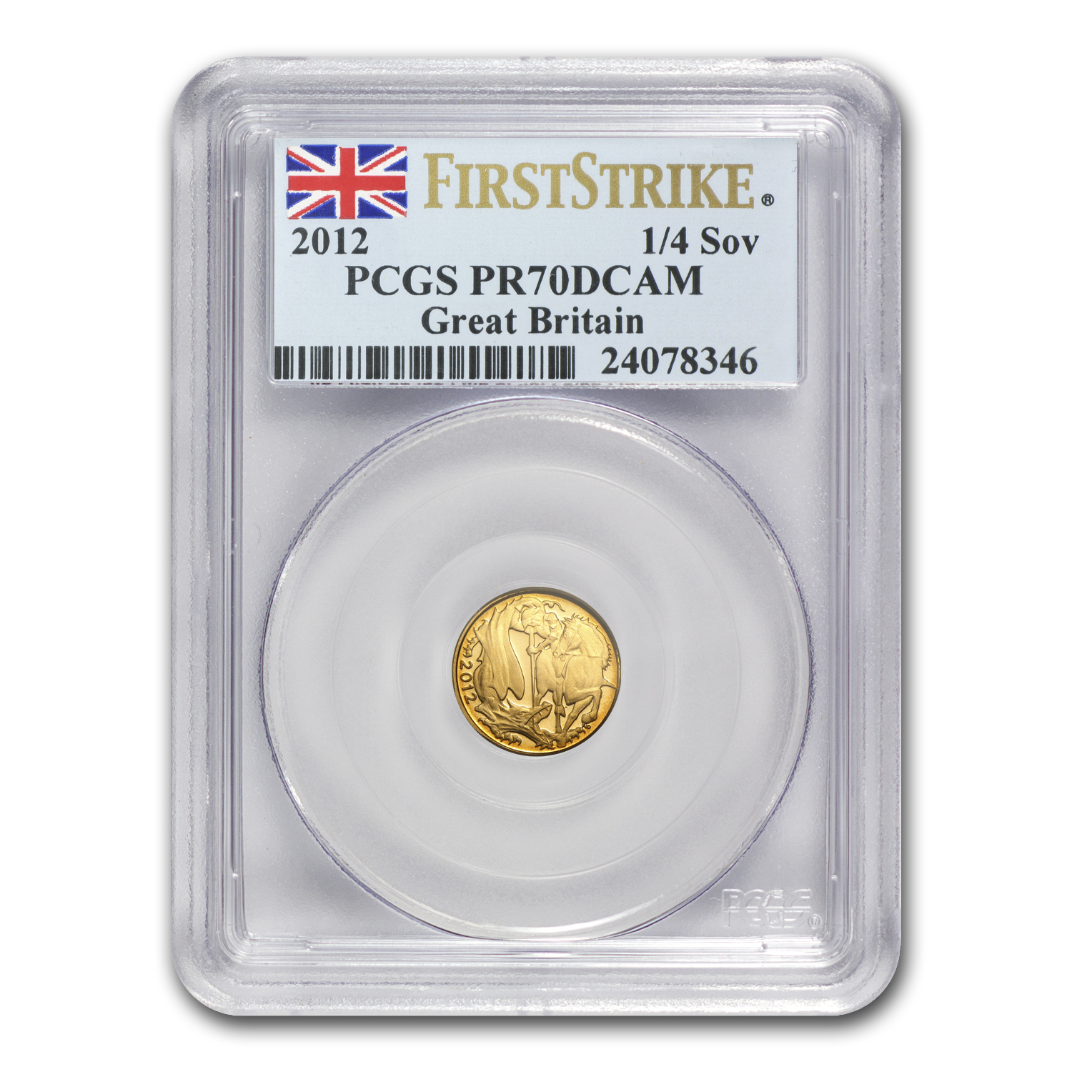 2012 Great Britain Gold 1/4 Sovereign PR-70 PCGS (FS)