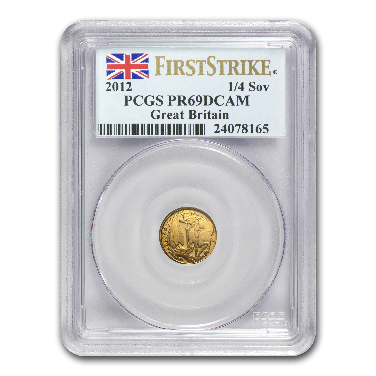 Great Britain 2012 Gold 1/4 Sovereign PR-69 PCGS (FS)
