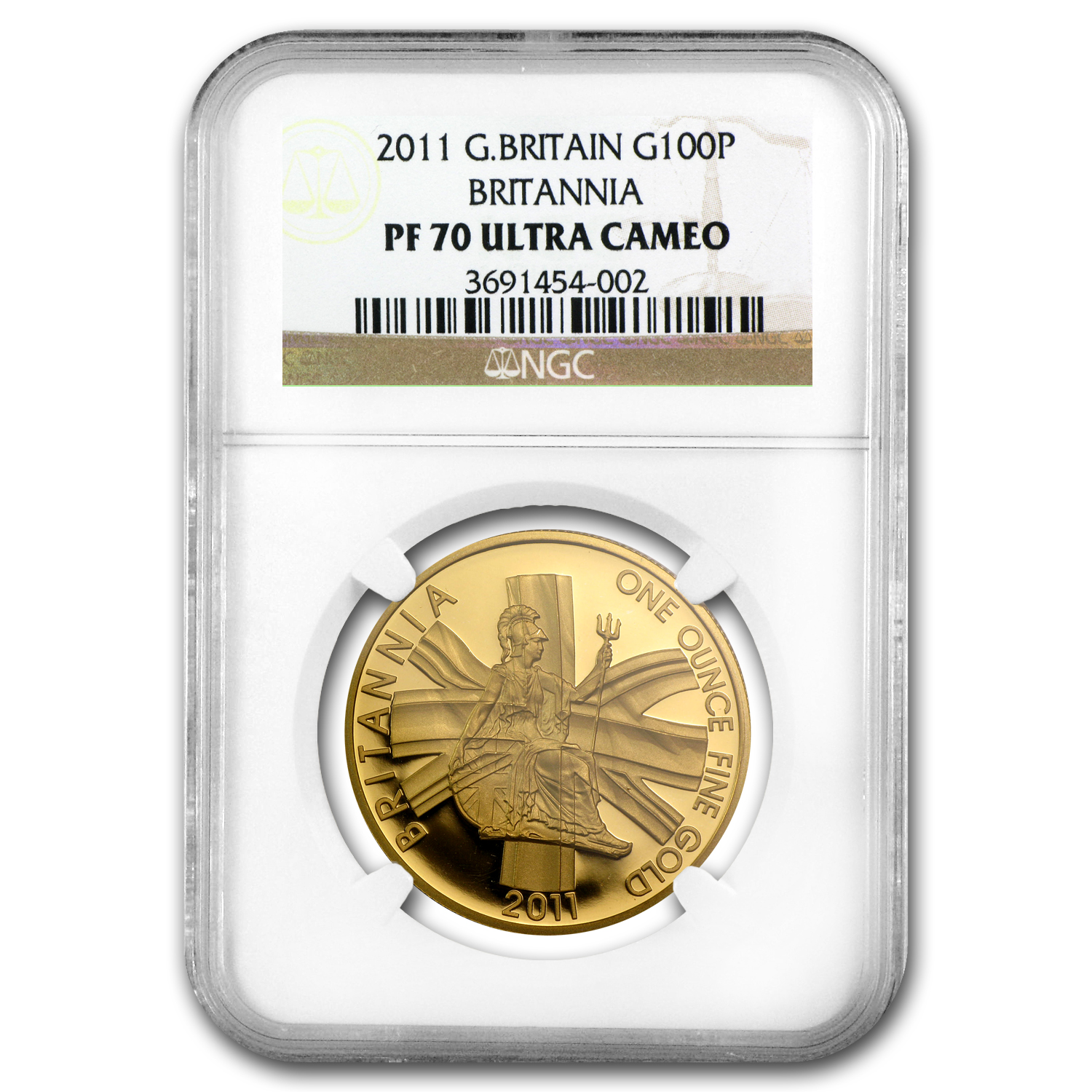 2011 1 oz Proof Gold Britannia PF-70 UCAM NGC
