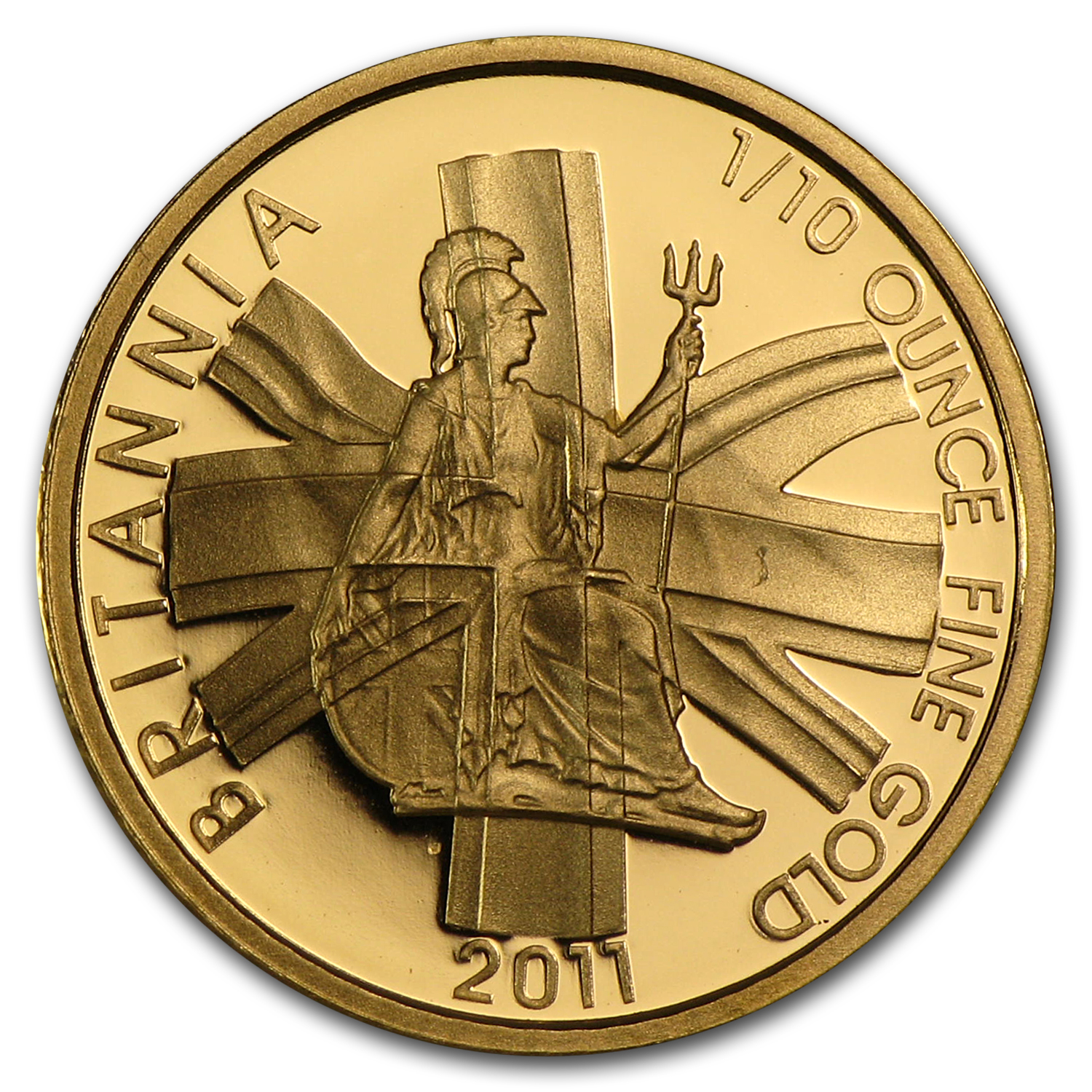 2011 1/10 oz Proof Gold Britannia - Capsule