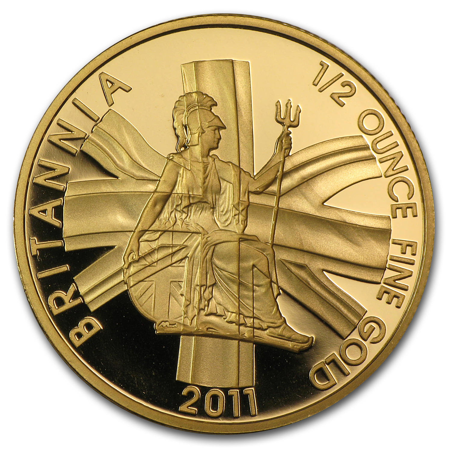 2011 Great Britain 1/2 oz Proof Gold Britannia (Capsule)