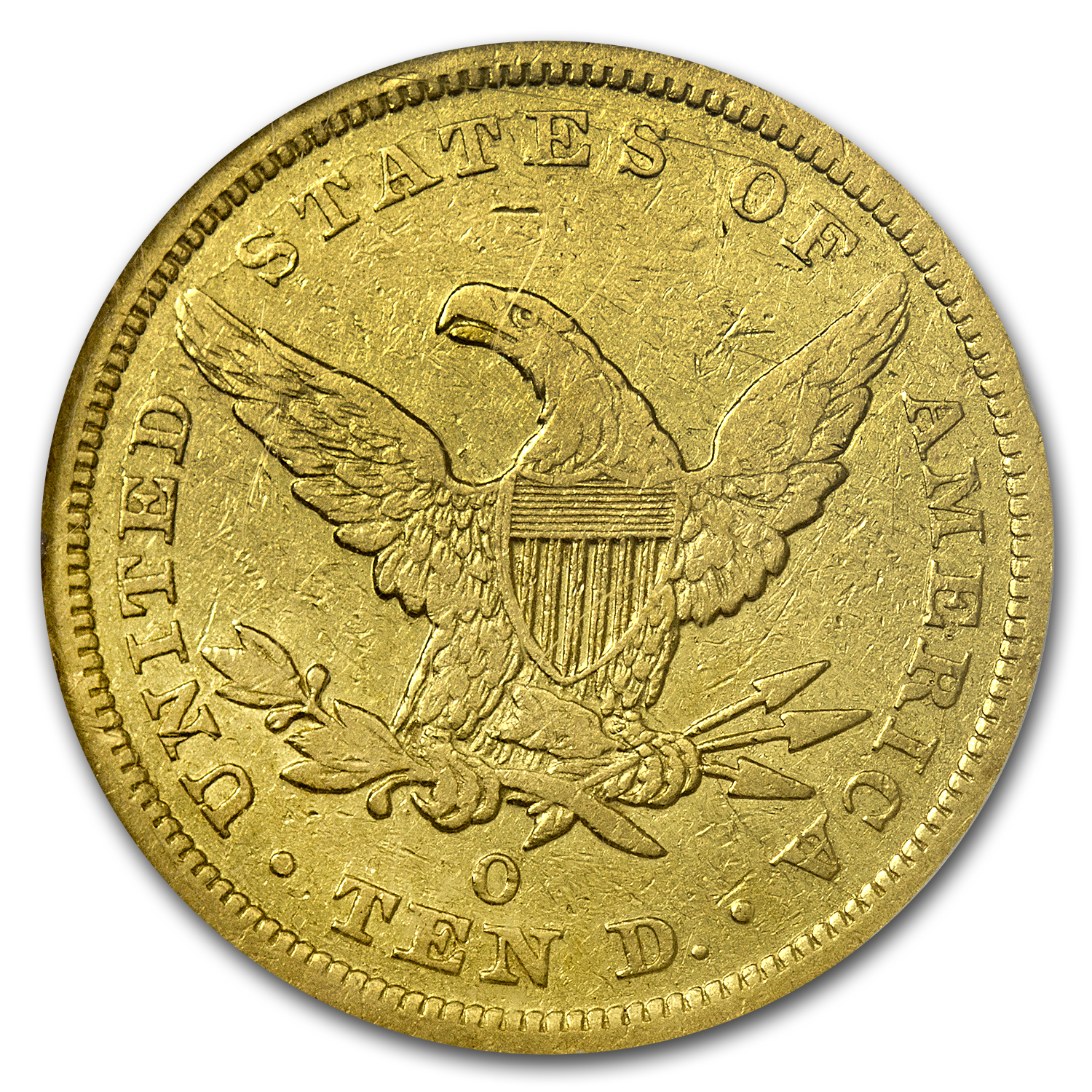 1843-O $10 Liberty Gold Eagle SS REPUBLIC - VF-35 NGC