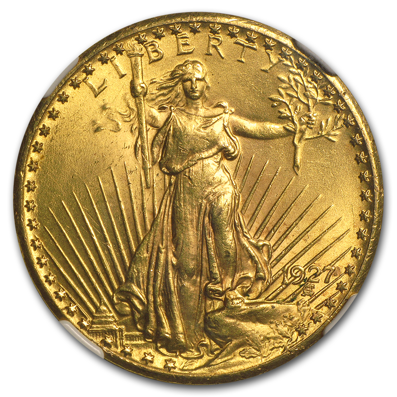 $20 Saint-Gaudens Gold Double Eagle MS-63 PCGS/NGC (CAC)
