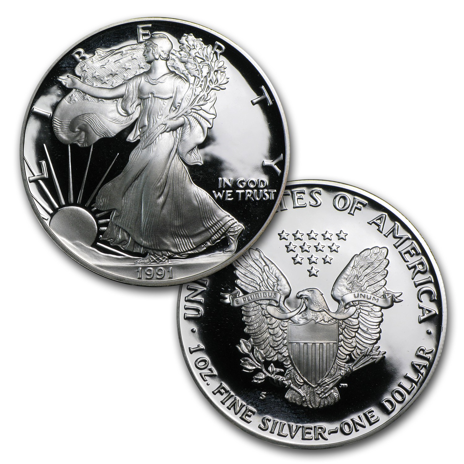 1986-2014 28-Coin Proof Silver American Eagle Set