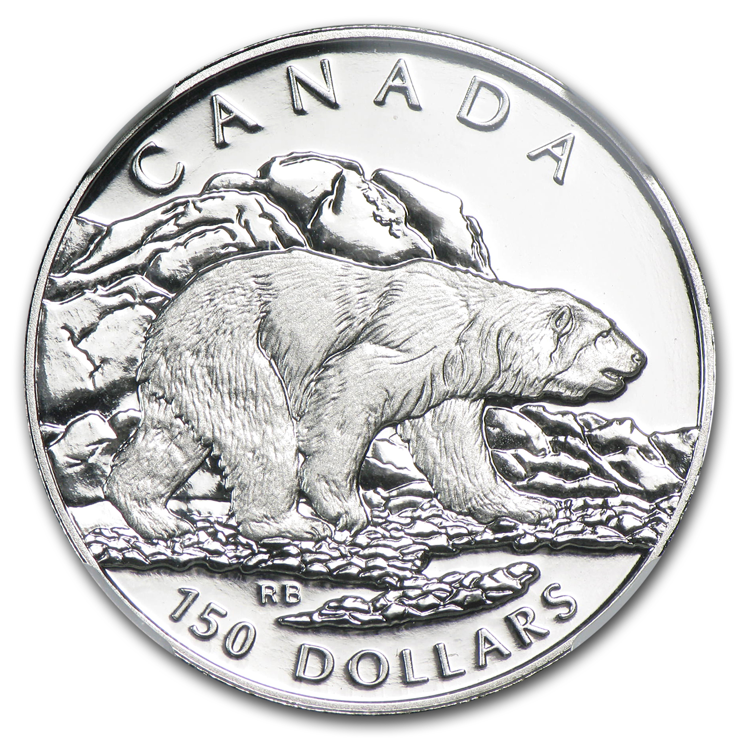 1990 1/2 oz Proof Platinum Canadian Polar Bear PF-69 NGC