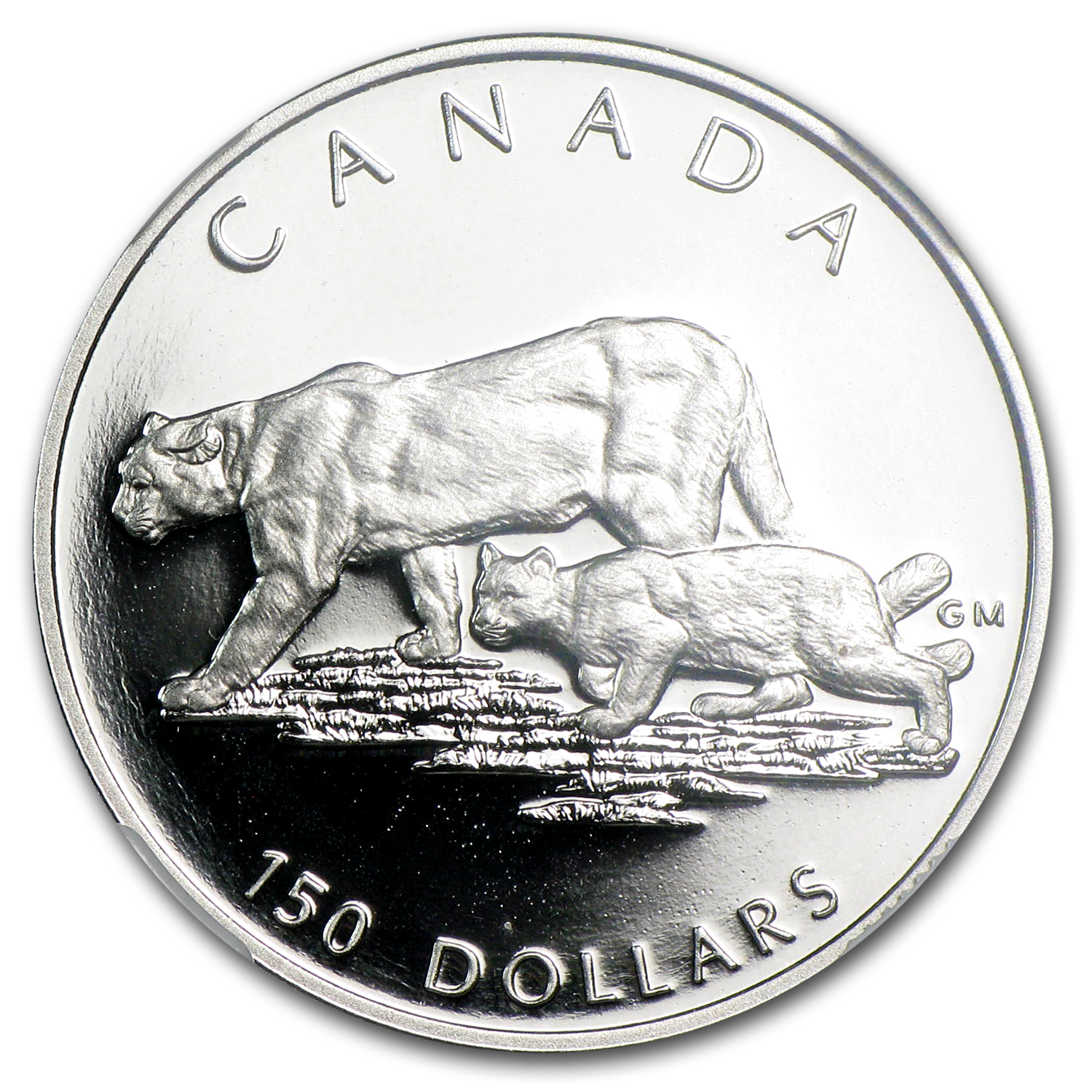 1992 1/2 oz Proof Platinum Canadian Cougar PF-69 NGC