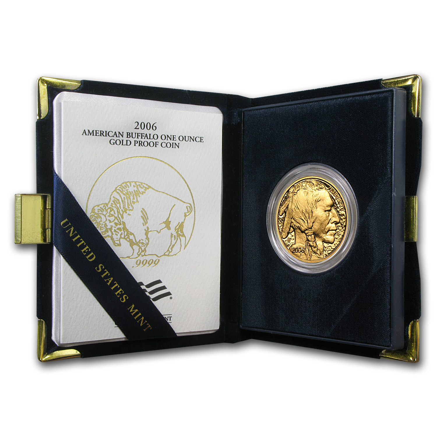 2006-2013 1 oz Proof American Gold Buffalo Set (w/Box & CoA)