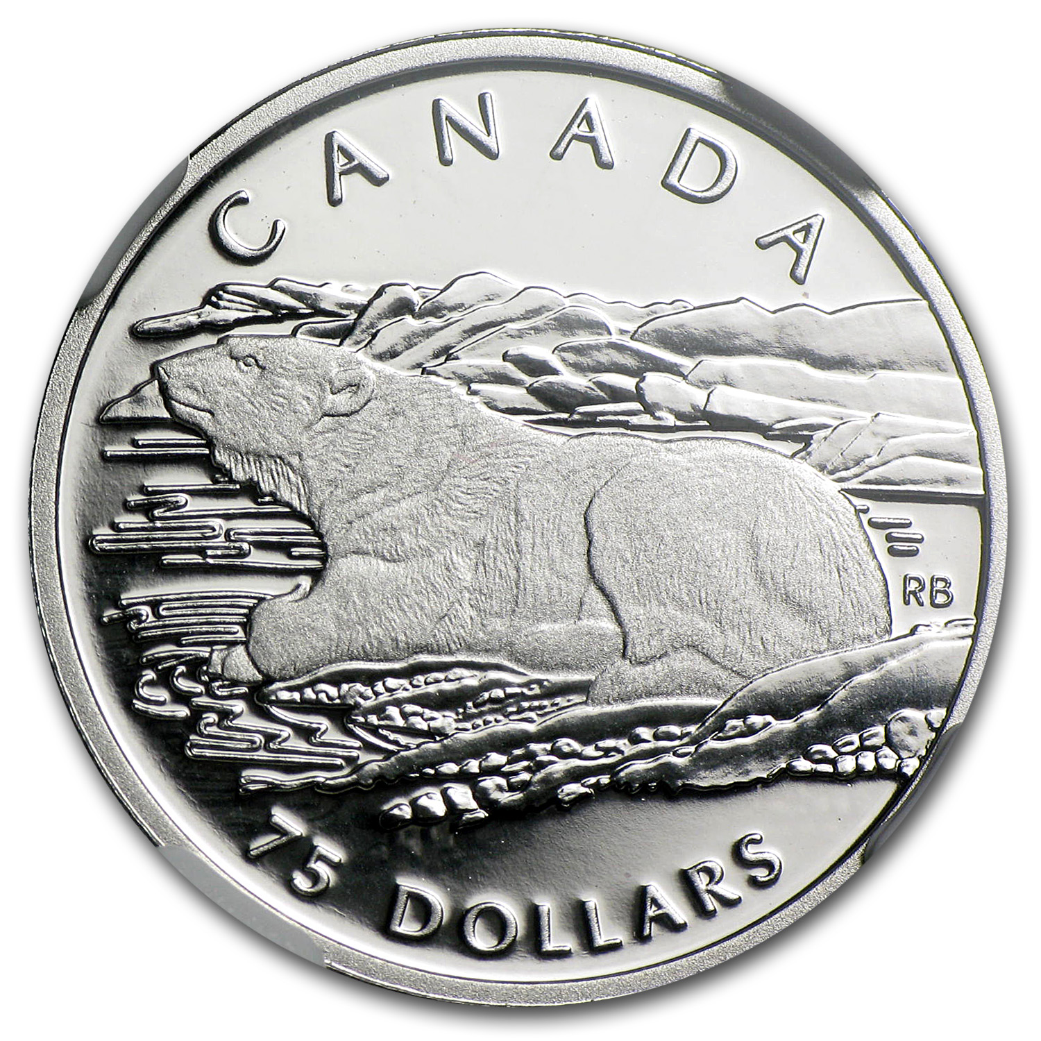1990 1/4 oz Proof Platinum Canadian Polar Bear PF-69 NGC