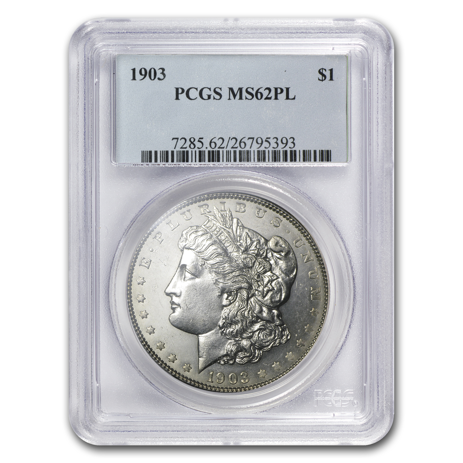 1903 Morgan Dollar MS-62 PL Proof Like PCGS