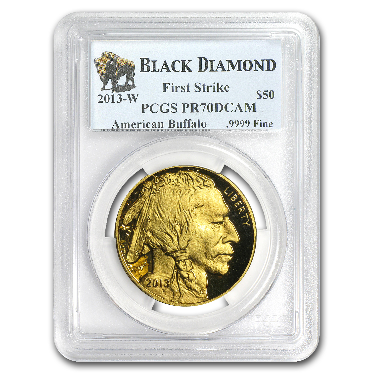2013-W 1 oz Proof Gold Buffalo PR-70 PCGS (FS) Black Diamond