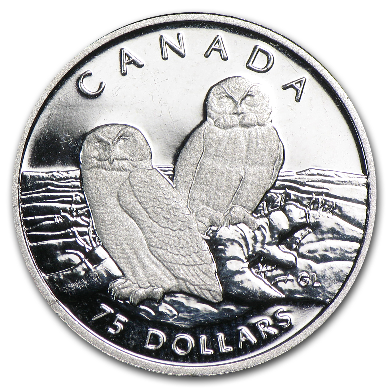 1991 1/4 oz Proof Platinum Canadian Snowy Owl