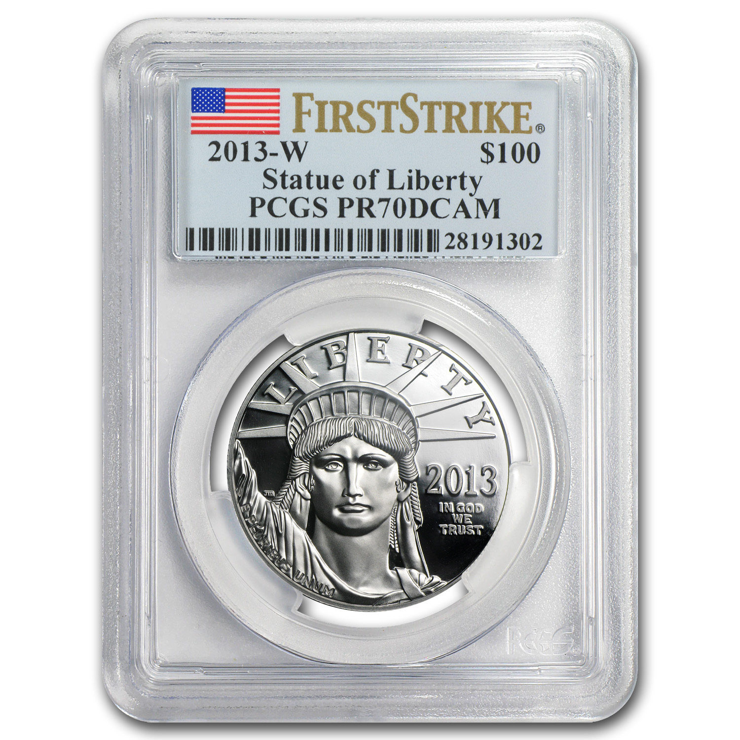 2013-W 1 oz Prf Platinum American Eagle PR-70 PCGS (First Strike)