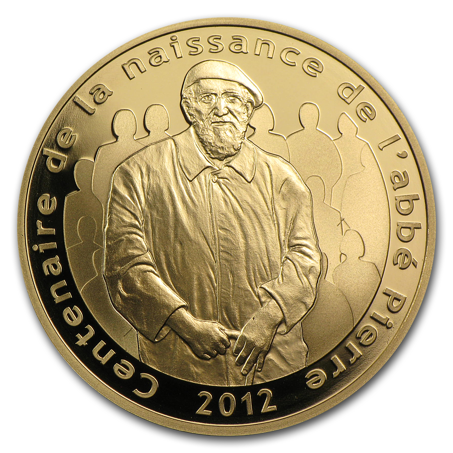 2012 1/4 oz Proof Gold 100th Anniv of Abbé Pierre's Birth