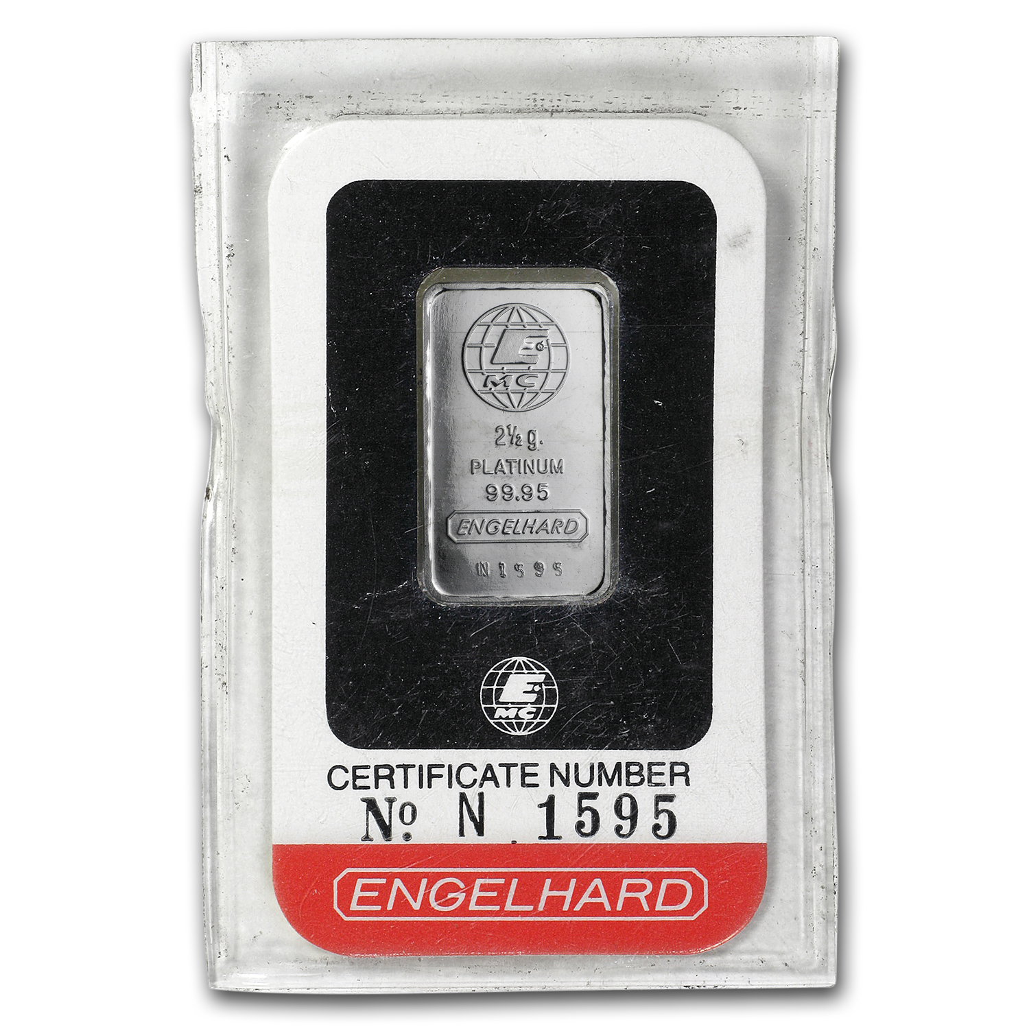 2.5 gram Platinum Bar - Engelhard (In Assay)