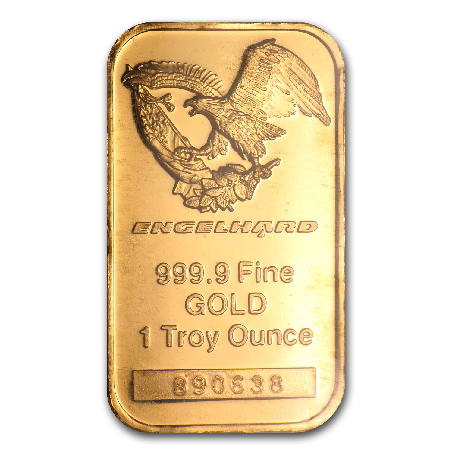 1 oz Gold Bar - Engelhard ('Eagle' logo)
