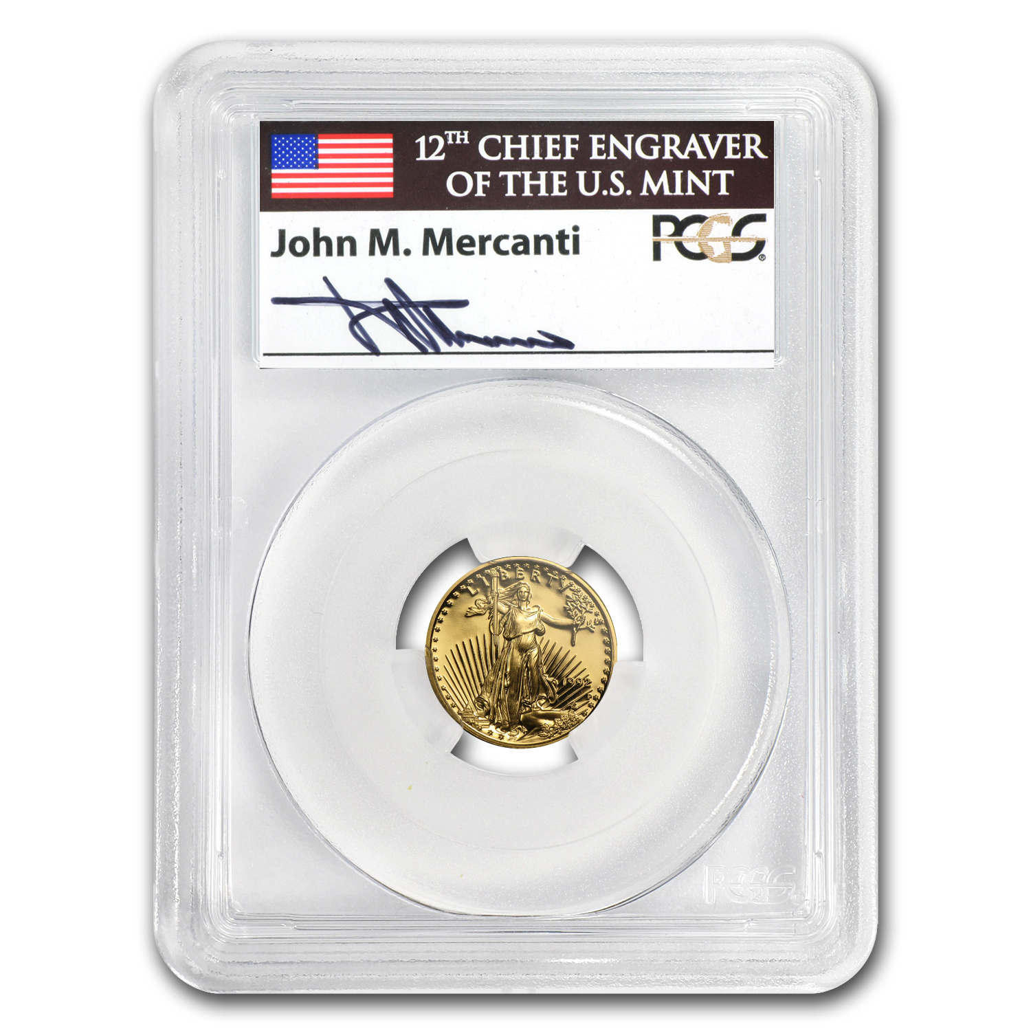 1992-P 1/10 oz Proof Gold American Eagle PR-69 PCGS John Mercanti