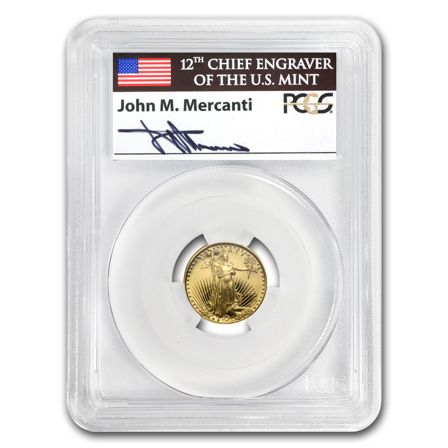 1993-P 1/10 oz Proof Gold American Eagle PR-69 PCGS John Mercanti