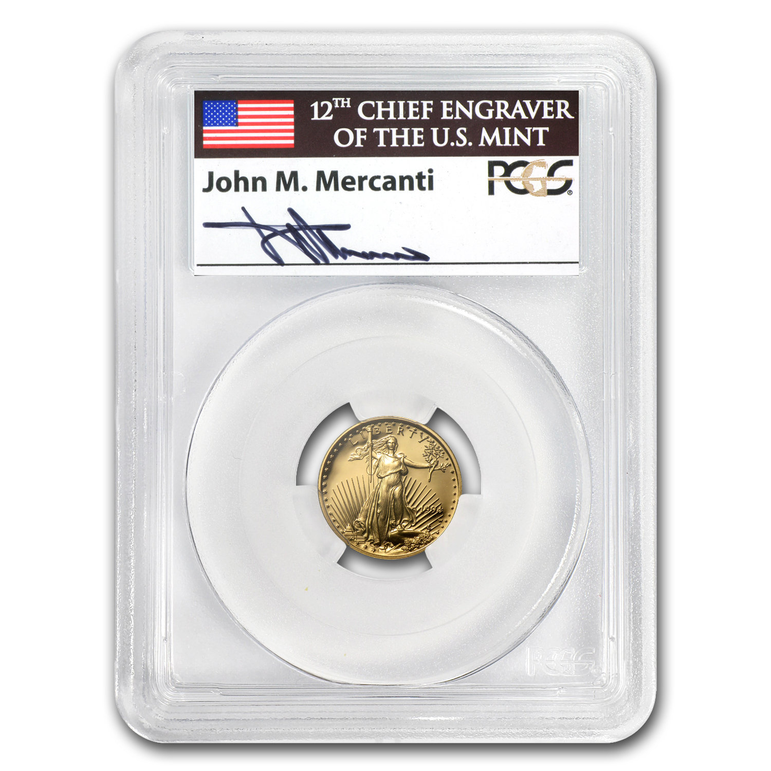 1994-W 1/10 oz Proof Gold American Eagle PR-69 PCGS John Mercanti