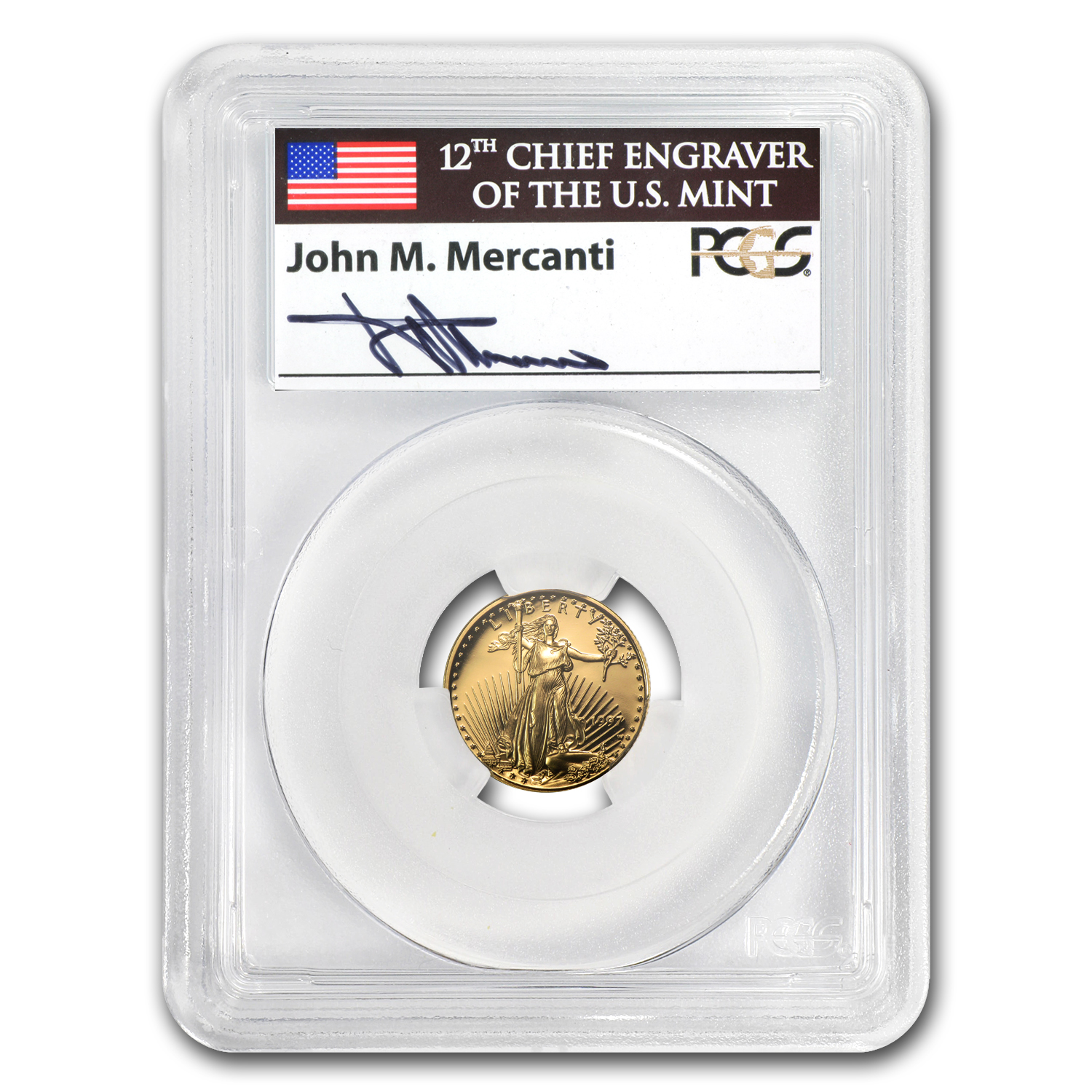 1997-W 1/10 oz Proof Gold American Eagle PR-69 PCGS John Mercanti